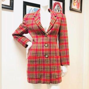 Vintage MONDI Multicolor Houndstooth Wool Jacket